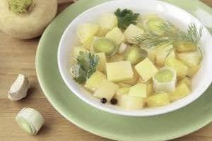 суп из репы и яблок